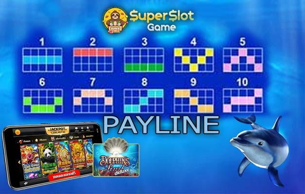 LINES SLOT ในเกม Dolphin's Pearl Deluxe