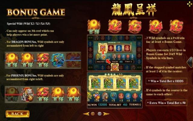 BONUS GAME Dragon Phoenix