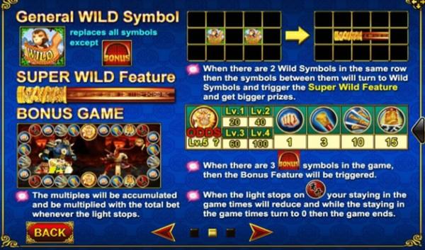 ฟีเจอร์พิเศษในเกม Golden Monkey King