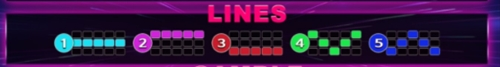 Linesgame Hot Fruits ไลน์ทั้งหมดของเกม