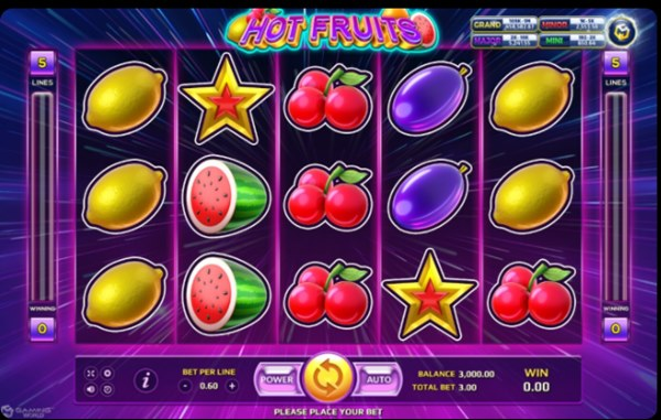รูปสัญลักษณ์ของเกม Hot Fruits