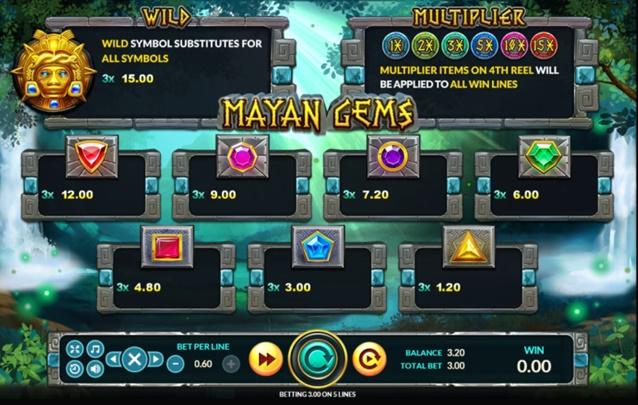 วิธีเล่น Mayan Gems