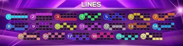 lines game Octagon Gem 2 ไลน์ที่ใช้ทั้งหมดในเกม