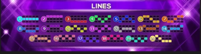 Lines Octagon Gem ไลน์ทั้งหมดที่มีในเกม