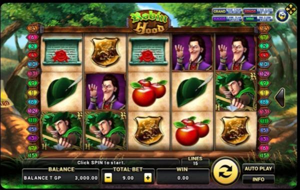 อัตราการจ่ายเงินในเกม Robin Hood