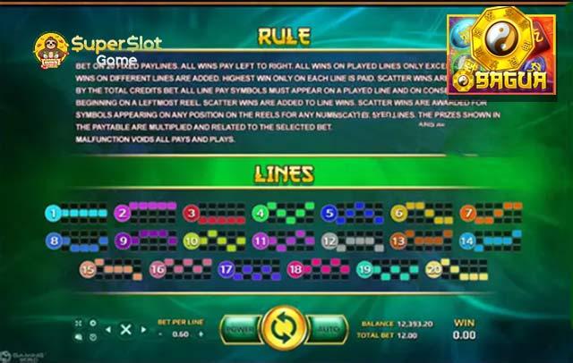 ฟีเจอร์และสัญลักษณ์ในเกม line bonus