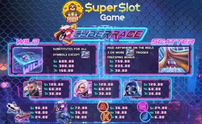 ลัญลักษณ์ในเกม Cyber Race