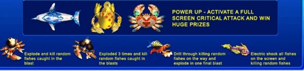 ฟีเจอร์พิเศษต่างๆในเกม Happy Fish 5